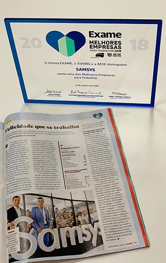 Revista Exame MEPT Samsys