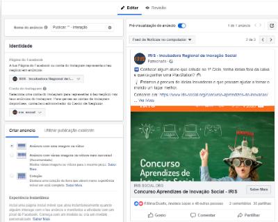 Campanhas de Facebook IRIS