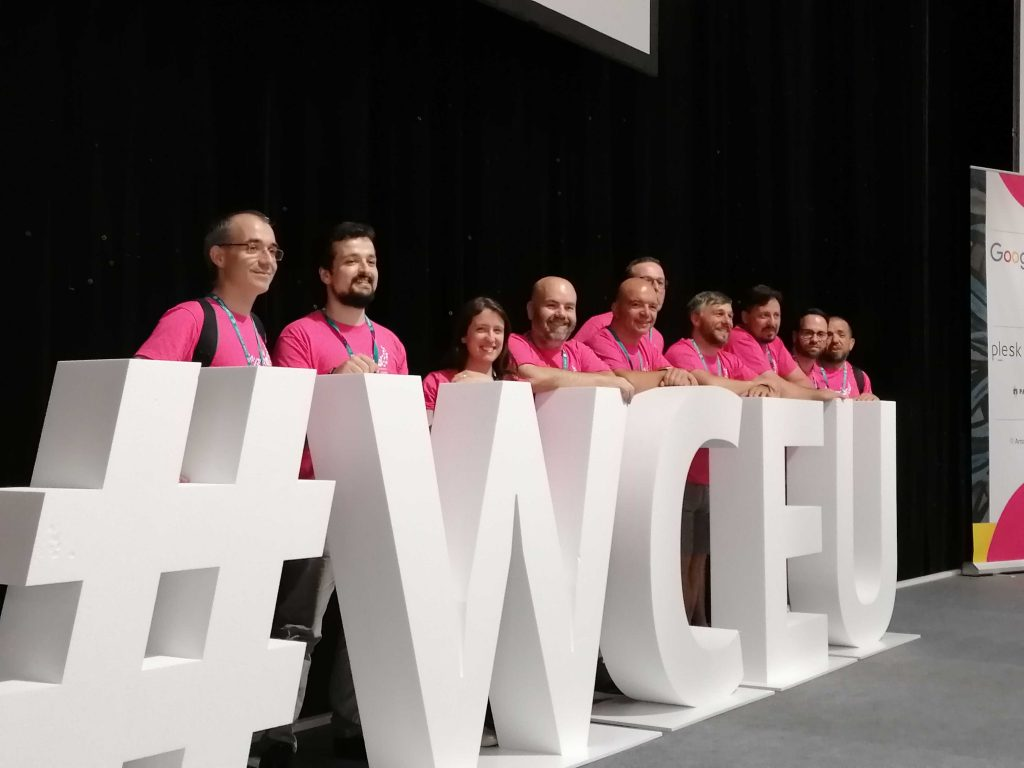 Parte da Comunidade WordPress Portugal na equipa de voluntários do WordCamp Europe 2019